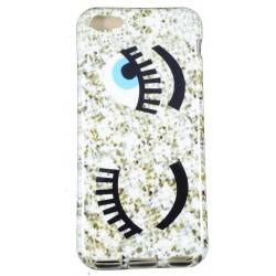 Cover Back case in gomma di silicone per Iphone 5c con fantasia occhi
