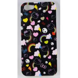 Cover Back case in gomma di silicone per Iphone 5 con fantasia Gattini ,cuori ,teschi