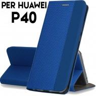 Custodia per Huawei P40 Blu cover tpu portafoglio Sensitive libro chiusa magnetica