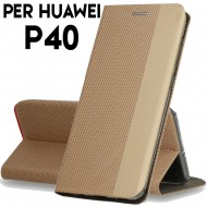 Custodia per Huawei P40 Oro cover tpu portafoglio Sensitive libro chiusa magnetica