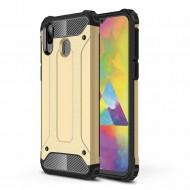 Custodia per Samsung M20 Hybrid Armour TPU+PC Cover robusta e resistente Colore Nero