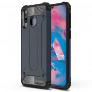 Custodia per Samsung M30 Hybrid Armour TPU+PC Cover robusta e resistente Colore Blu