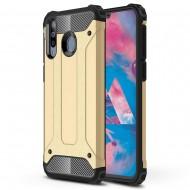 Custodia per Samsung M30 Hybrid Armour TPU+PC Cover robusta e resistente Colore Oro