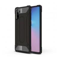 Custodia per Samsung Note 10 Nero Hybrid Armour TPU+PC Cover robusta e resistente Colore Nero