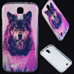 Cover Back case in gomma di silicone per Samsung S4 Lupo