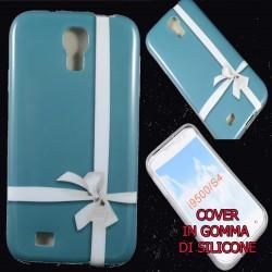 Cover Back case in gomma di silicone per Samsung S4 sfondo nastro regalo
