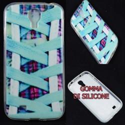 Cover Back case in gomma di silicone per Samsung S4 stringhe scarpe