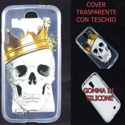Cover Back case in gomma di silicone per Samsung S4 Teschio camuflage, mimetico