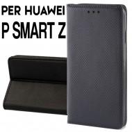 Custodia per Huawei P Smart Z Nero cover portafoglio libro con chiusura magnetica