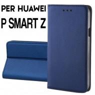 Custodia per Huawei P Smart Z Blu cover portafoglio libro con chiusura magnetica