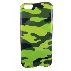 "Cover Back case in gomma di silicone per Iphone 6-6s 4.7"" con fantasia camuflage/mimetica"