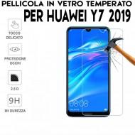 Pellicola per Huawei Y7 2019 in Vetro Temperato Proteggi Schermo per smartphone