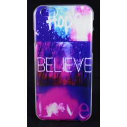 "Cover Back case in gomma di silicone per Iphone 6-6s 4.7"" hope beleve love"