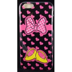 """Cover Back case in gomma di silicone per Iphone 6-6s 4.7""""  con fantasia scarpe e fiocco minnie"""