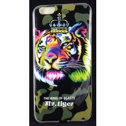 Cover Back case in gomma di silicone per Iphone 6-6S Plus con fantasia camuflage/mimetica