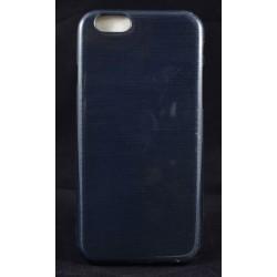 """Cover Back case in gomma di silicone per Iphone 6-6s 4.7"""" nera con satinatura"""