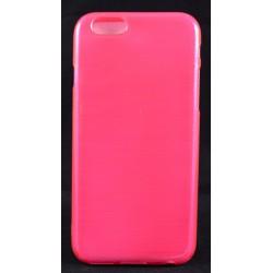 """Cover Back case in gomma di silicone per Iphone 6-6s 4.7"""" rosa fucsia con satinatura"""