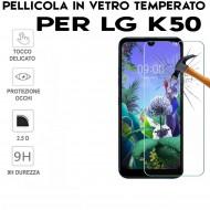 Pellicola per LG K50 in Vetro Temperato Proteggi Schermo salva display