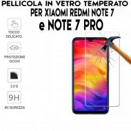 Pellicola per Xiaomi Redmi Note 7 e Note 7 Pro Antiurto in Vetro Temperato Proteggi Schermo