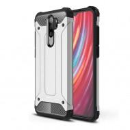 Custodia per Xiaomi Redmi Note 8 Pro Argento Hybrid Armour TPU+PC Cover robusta e resistente