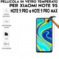 Pellicola per Xiaomi Redmi Note 9 Pro Max Antiurto in Vetro Temperato Proteggi Schermo