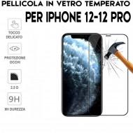 Pellicola per Iphone 12 e 12 Pro Antiurto in Vetro Temperato Proteggi Schermo