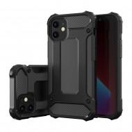Custodia per Iphone 12 e Iphone 12 Pro Hybrid Armour TPU+PC Cover robusta e resistente Colore Nero