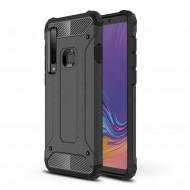 Custodia per Samsung A9 2018 Hybrid Armour TPU+PC Cover robusta e resistente Colore Nero