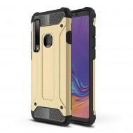 Custodia per Samsung A9 2018 Hybrid Armour TPU+PC Cover robusta e resistente Colore Oro