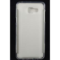 Cover Back case in gomma di silicone per  per Samsung A5 2016 bianco/trasparente