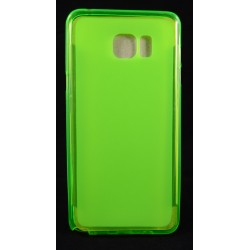 Cover Back case in gomma di silicone per Samsung Note 5 verde fluo