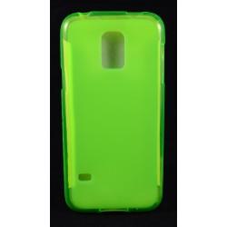 Cover Back case in gomma di silicone per Samsung  S5 Mini verde fluo