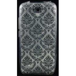 Cover per Huawei Y5 Back case in gomma di silicone trasparente con disegno nero
