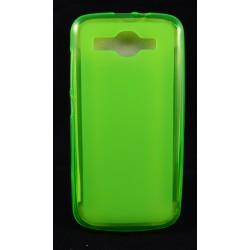 Cover Back case in gomma di silicone per Huawei G7 Bianco/trasparente