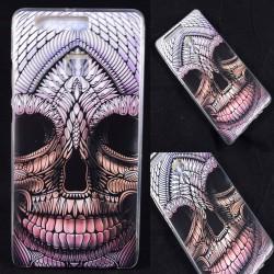 Cover Back case in gomma di silicone per Huawei P9 con teschio stile tatuaggio