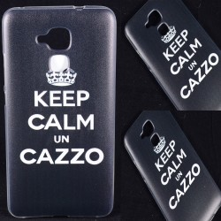 Cover Back case in gomma di silicone per Huawei 5C KEEP CALM UN C...