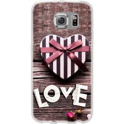 Cover Back case in silicone per Huawei Ascend P9 con scritta love e cuore