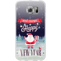 Cover per Huawei Y6 anno 2015 in silicone con babbo natale Merry christmas