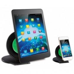 Cover nera rigida con cinturino per iPad2/3/4