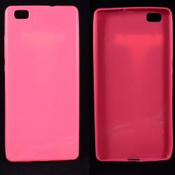 Cover Back case x Huawei P8 LITE in silicone Rosa Fucsia