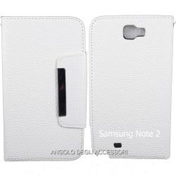"""Custodia cover  x Iphone 6 plus 5.5"""" a libro/portafoglio  con porta tessere ,colore Bianco"""