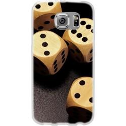 Cover per samsung  Core Prime G360 Back case in silicone con dadi da gioco