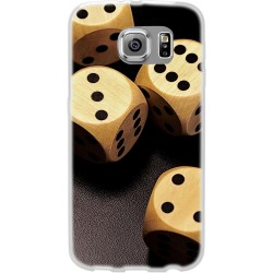Cover per samsung  Grand Neo Back case in silicone con dadi da gioco