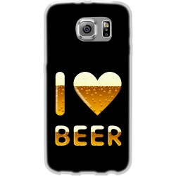Cover Back case in silicone per samsung  J1 (J100) con I LOVE BEER