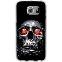 Cover Back case in silicone per samsung  J1 2016 (J120) con techio occhi rossi
