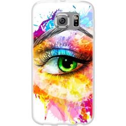 Cover Back case in silicone per samsung  J2 (J200) con occhio colorato