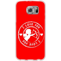 Cover Back case in silicone per samsung  J3 2016 (J320)  con cupido ( i love you )