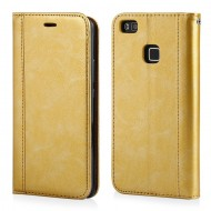 "CUSTODIA PER APPLE IPHONE 7/8 COVER SLIM IN ECOPELLE A LIBRO ""ELEGANCE"" PORTAFOGLIO-ORO"