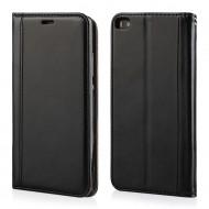 Custodia per Huawei P8 portefoglio-libro Elegance Cover in TPU colore Nero