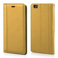 Custodia per Huawei P8 Lite portefoglio-libro Elegance Cover in TPU colore Oro